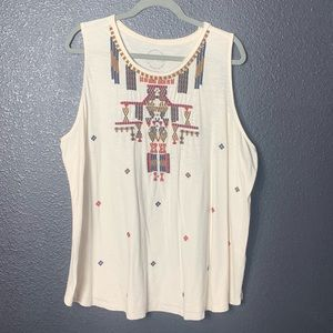 Lucky Brand Tribal Tank A Line fit